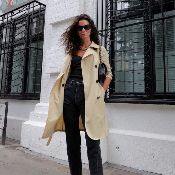 Hedvig blogger wearing by Malene Birger Adenia beige trench coat second hand clothing from London