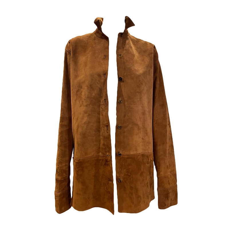 second hand Helmut Lang brown suede jacket