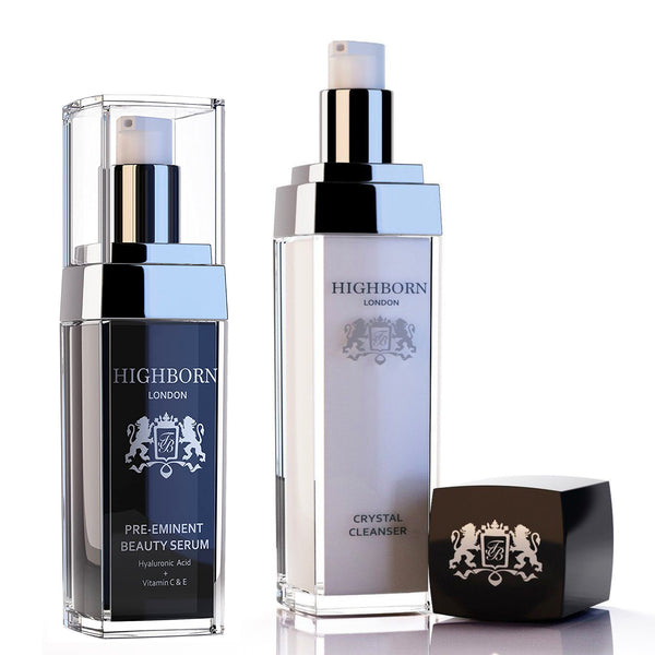Highborn London Pre-eminent Beauty Serum 30ml and Crystal Cleanser 100ml