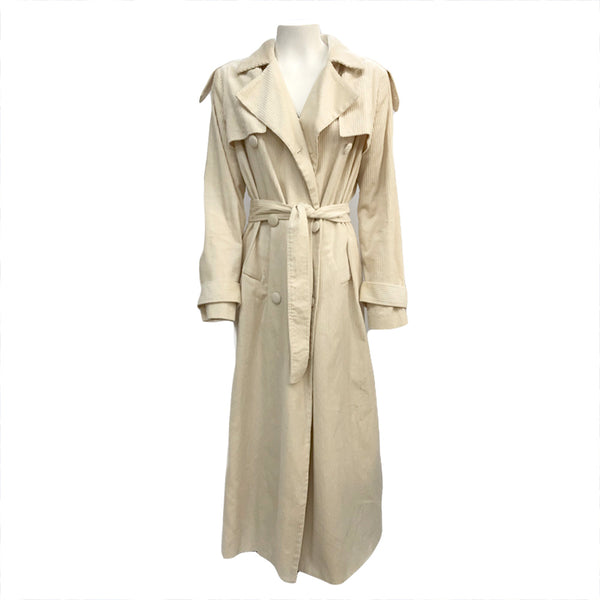 Hofmann ecru corduroy trench coat | one size
