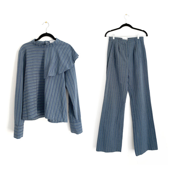 HOFMANN blue stripe set