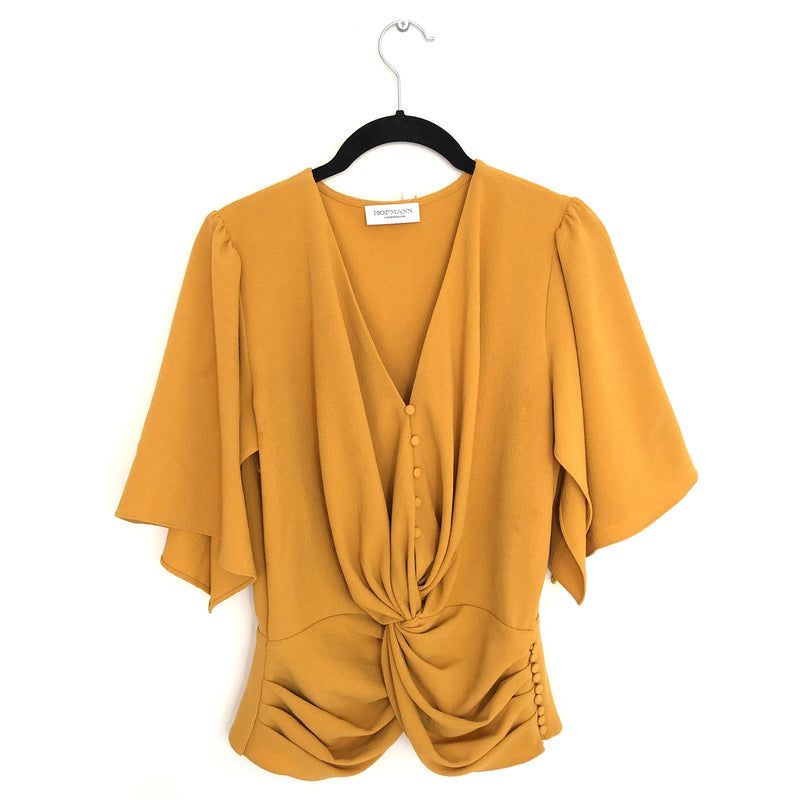HOFMANN yellow Marianna blouse