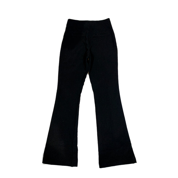 Holzweiler black bootcut trousers