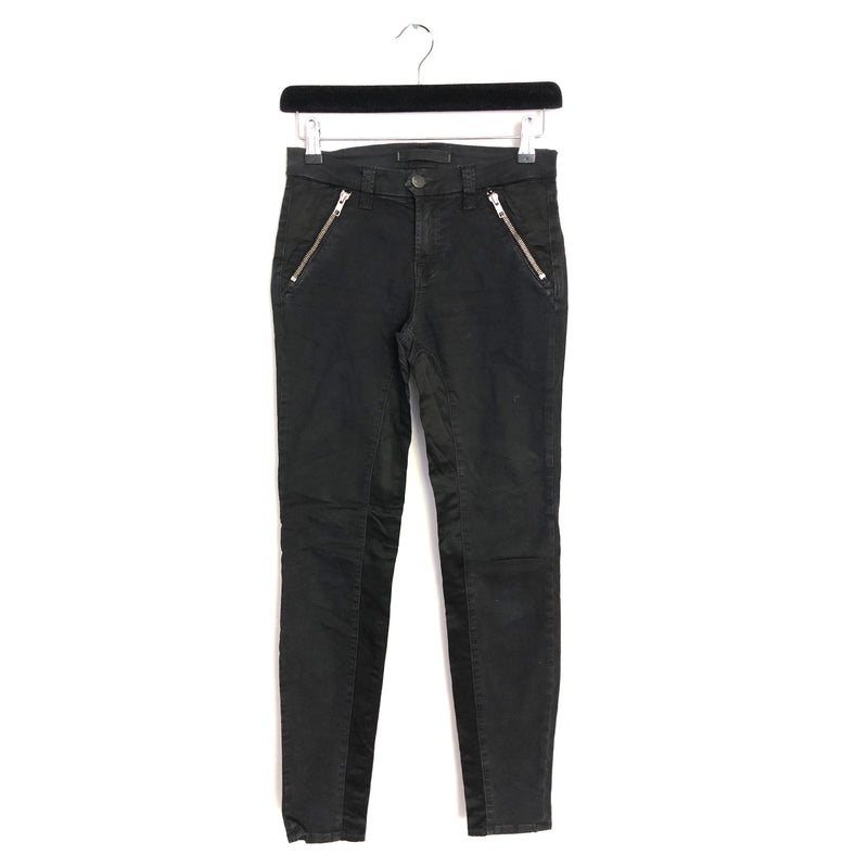 J BRAND black jeans with zips