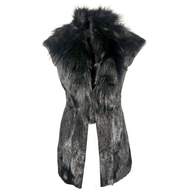 Julien Macdonald black fur gilet