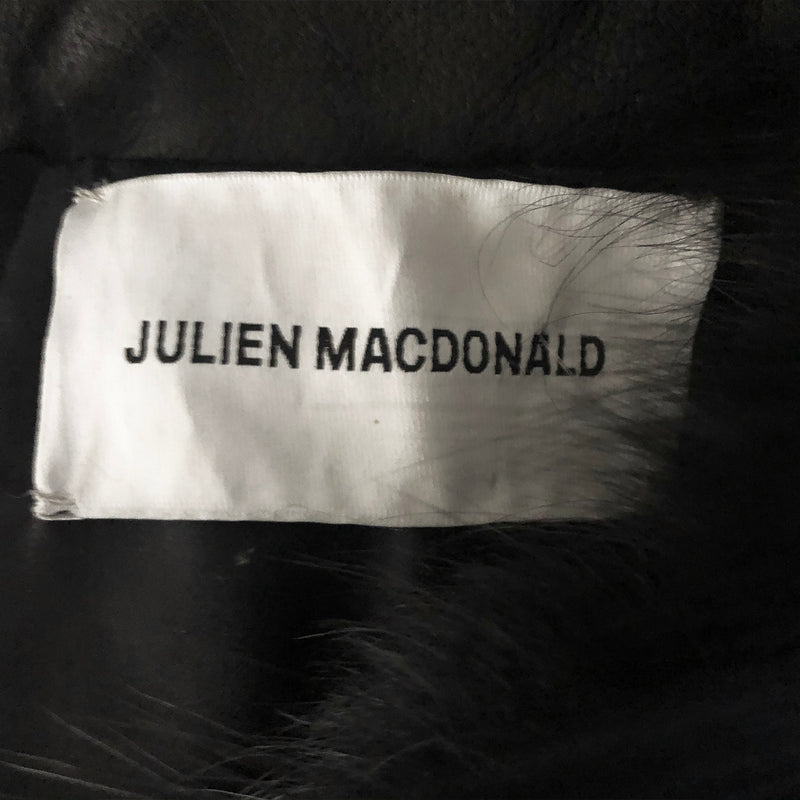 Julien Macdonald black fur gilet | size S