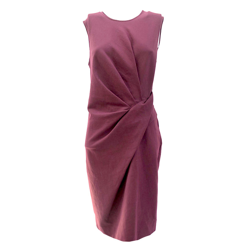 Lanvin burgundy draped dress