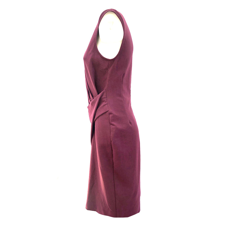 Lanvin burgundy draped dress | size UK10