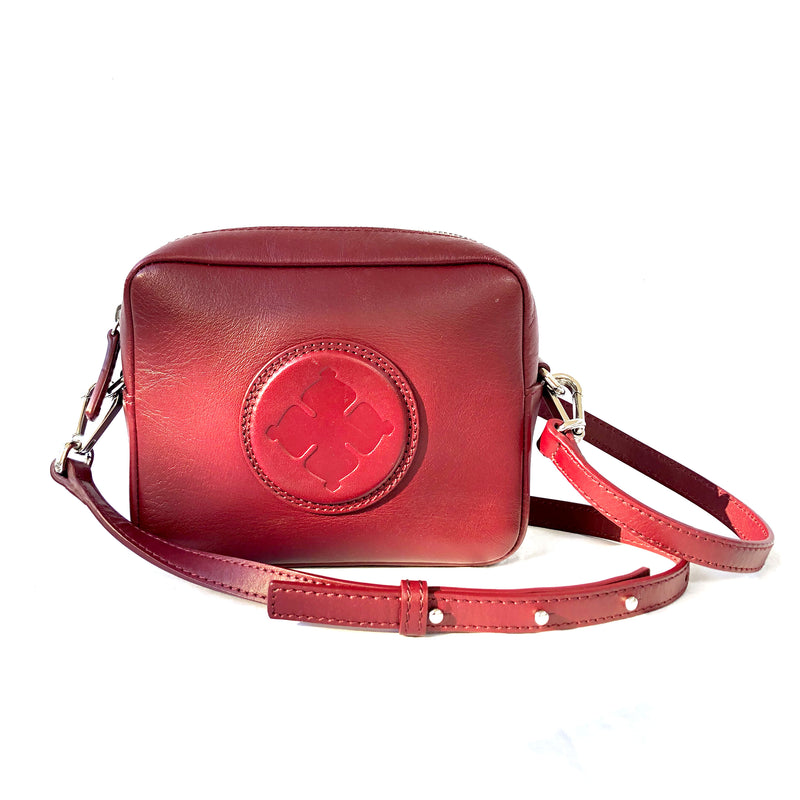 BY MALENE BIRGER Gemma burgundy crossbody bag