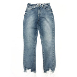 PAIGE jeans with torn distressed edges