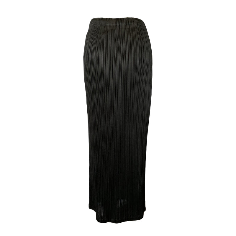 second hand Pleats Please Issey Miyake Gold and Black Skirt