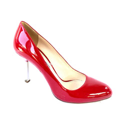 PRADA red heels metal heel