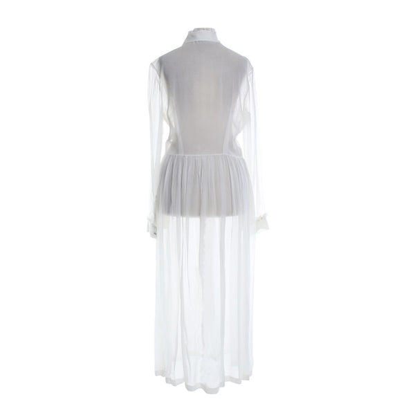 Preen maxi white transparent dress