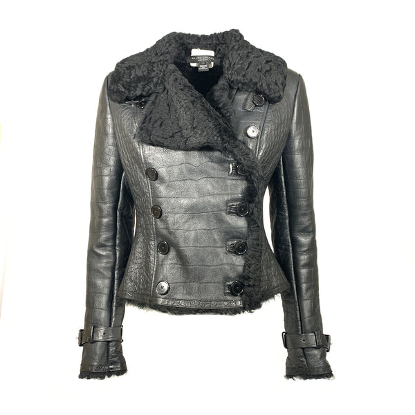 Ralph Lauren Black Lamb Shearling biker jacket