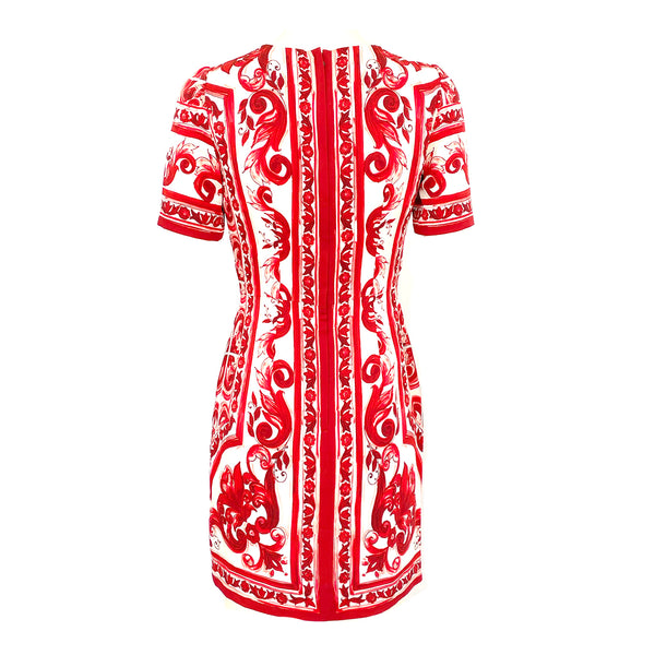 DOLCE&GABBANA red and white print dress