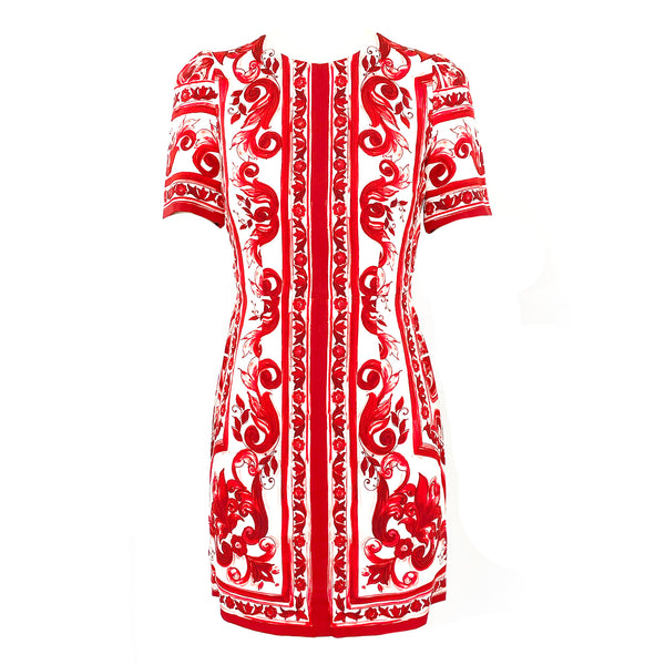 second hand DOLCE&GABBANA red and white print dress
