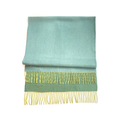 Loro Piana limited edition green and blue bicolour baby cashmere scarf