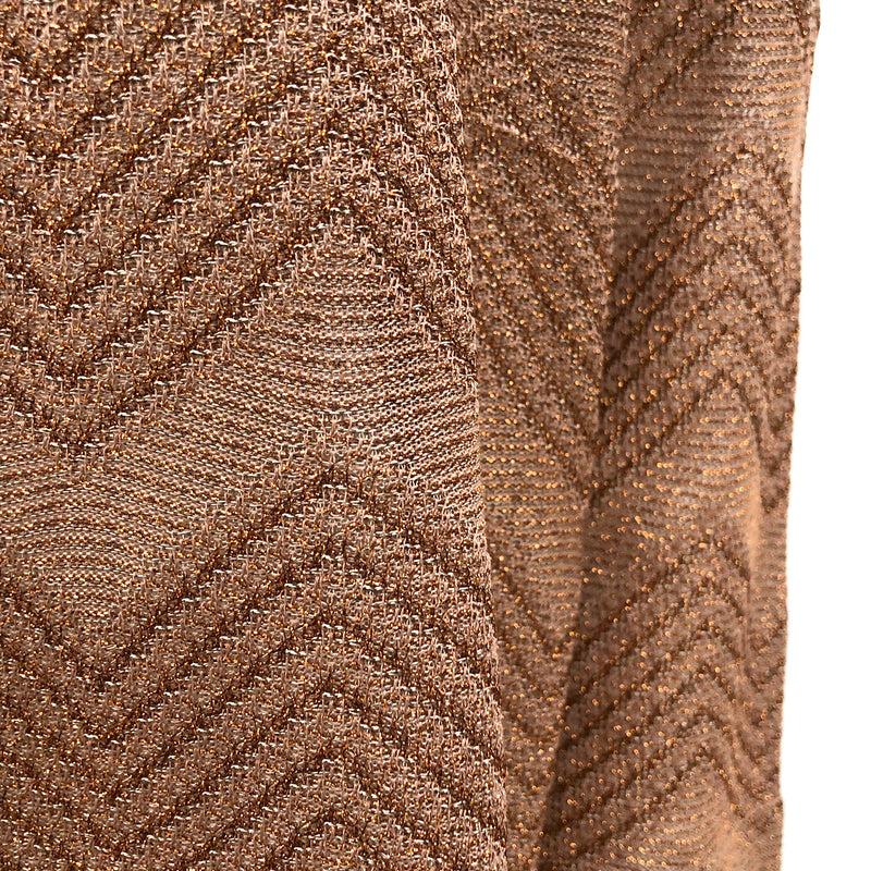 M Missoni zig zag gold/brown top | size S