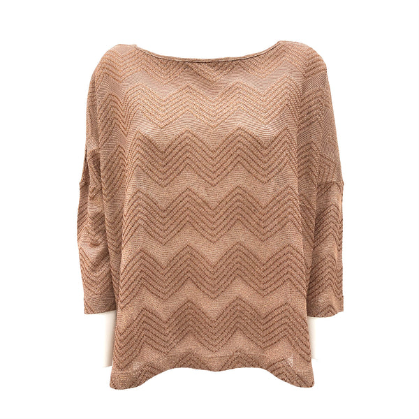 M Missoni zig zag gold top