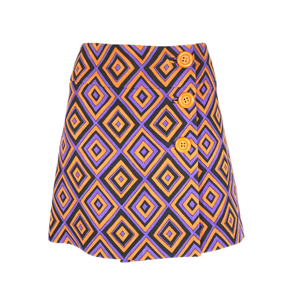 Prada print mini skirt