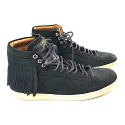 second hand SAINT LAURENT black suede trainers