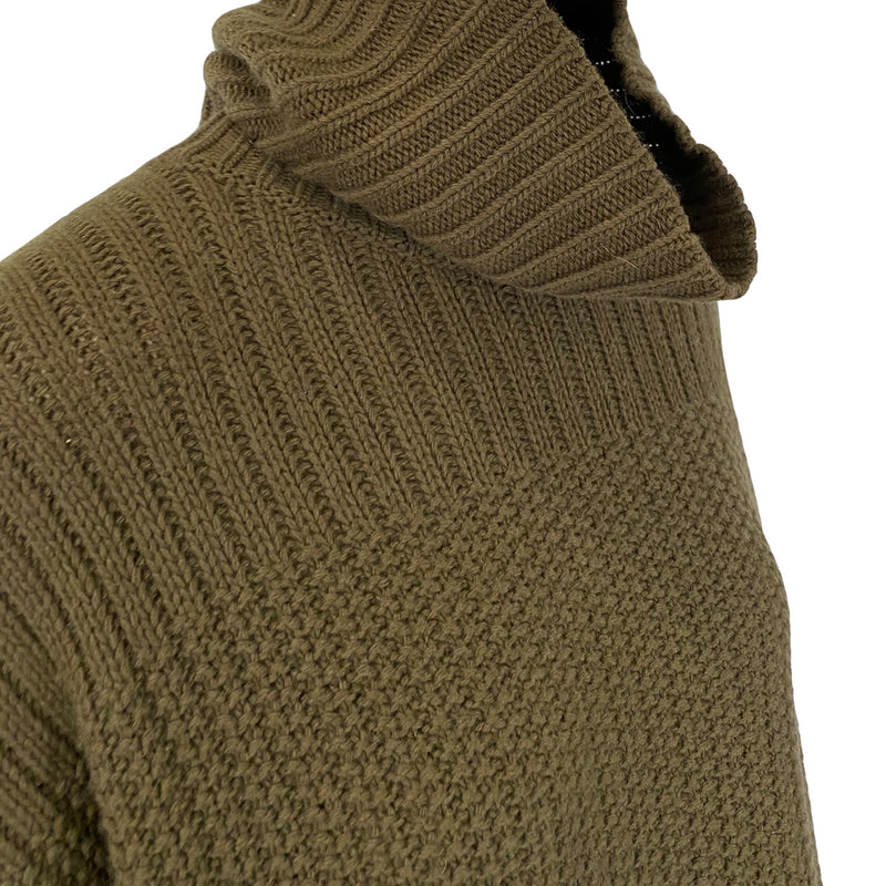 Theory military-green sleeveless turtleneck | size M/L