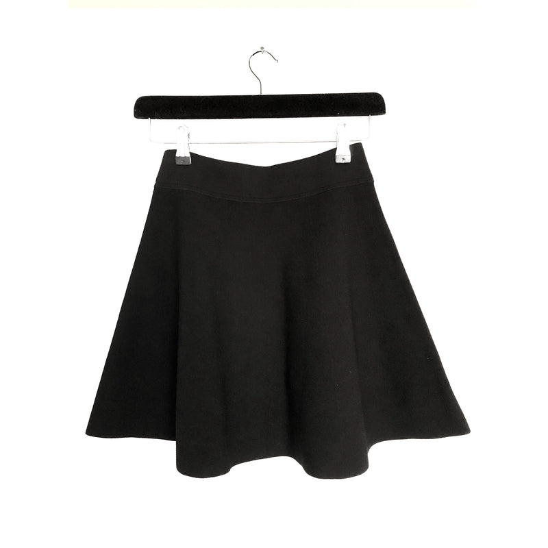 second hand black THEORY mini skirt