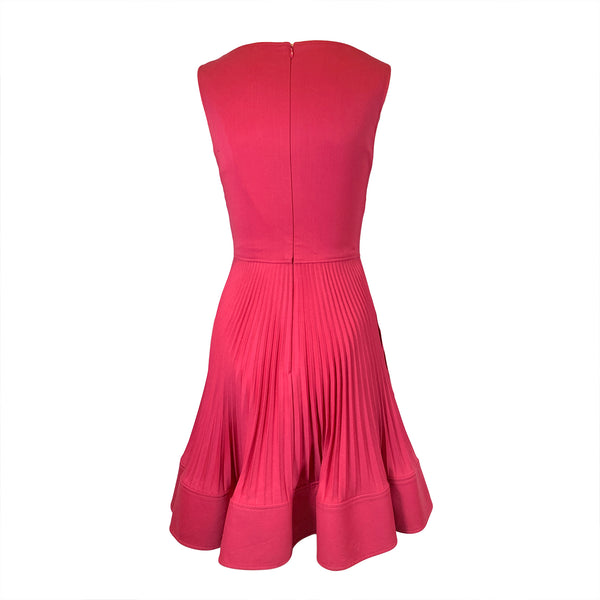 Valentino Technocouture raspberry red dress