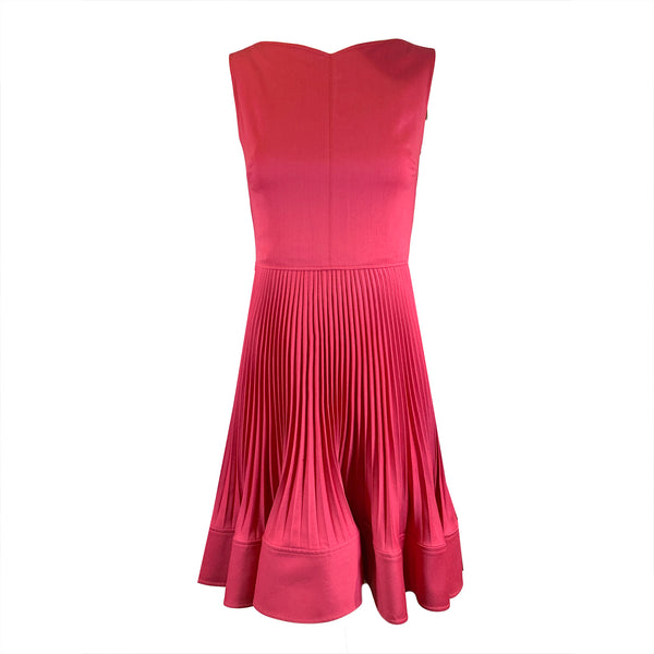 second hand Valentino Technocouture raspberry red dress