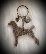 Load image into Gallery viewer, Weimaraner Glitter Keychain