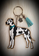 Load image into Gallery viewer, Full Body Great Dane Acrylic/Vinyl  Keychain