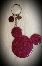 Load image into Gallery viewer, Mickey Mouse Glitter Keychain