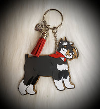 Load image into Gallery viewer, Schnauzer Acrylic/Vinyl  Keychain