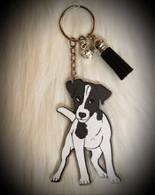 Load image into Gallery viewer, Jack Russell Terrier Acrylic/Vinyl  Keychain