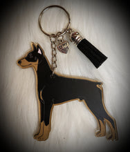 Load image into Gallery viewer, Doberman Acrylic/Vinyl  Keychain
