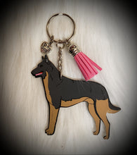 Load image into Gallery viewer, Belgian Malinois Acrylic/Vinyl  Keychain