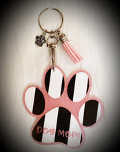 Load image into Gallery viewer, Paw Dog Mom Acrylic/Vinyl Keychain
