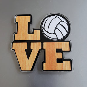 LOVE Indoor Volleyball Magnet