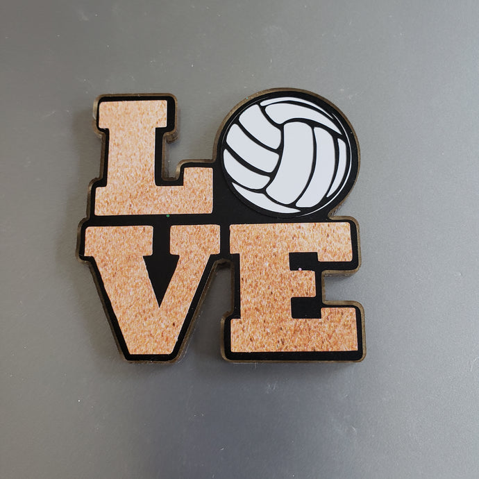 LOVE Sand Volleyball Magnet