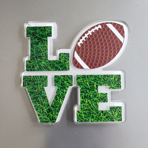 LOVE Football Magnet