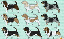 Load image into Gallery viewer, Bassett Hound Acrylic/Vinyl  Keychain
