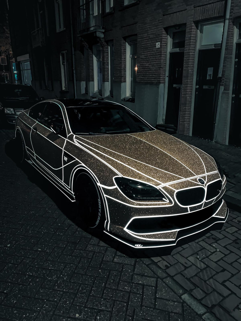 Gold Diamond Vinyl wrap