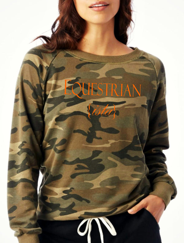 Equestrian Street Style Fashion: Camouflage Equestrian {ista} Pullover