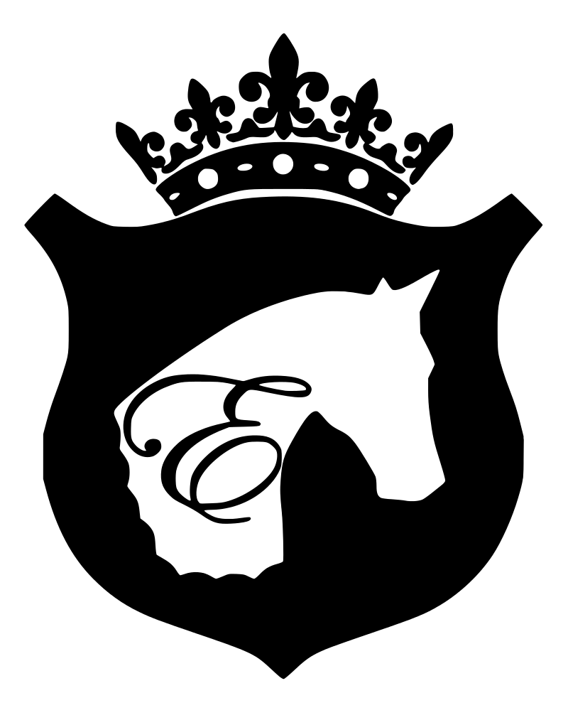 What is in the Equestrianista Brand Horse and Crown Logo