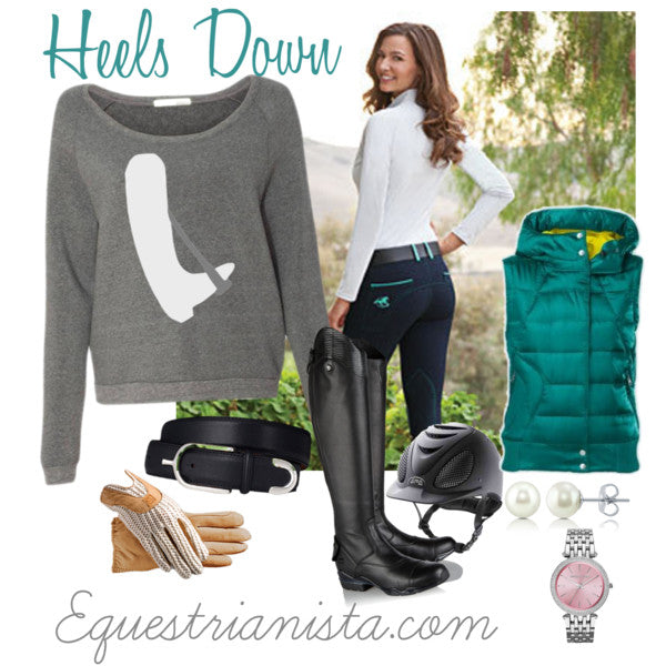 Heels Down with your Riding Outfit of the Day by Equestrianista