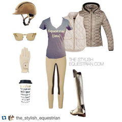 Equestrian {ista} Glitter T-shirt equestrian outfit set by The Stylish Equestrian.