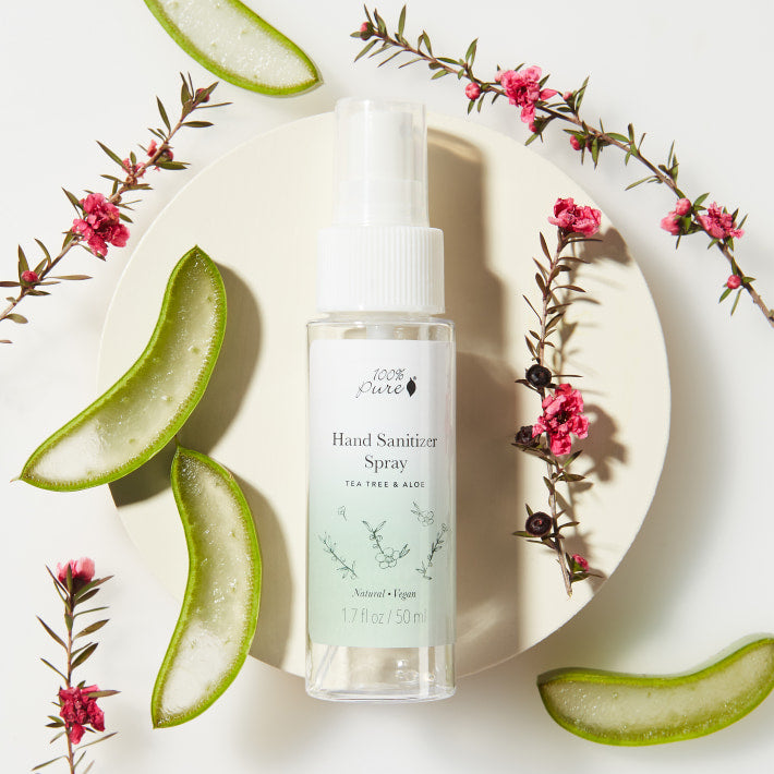 Hand Sanitizer Spray with Tea Tree Oil and Aloe Vera from Equestrianista Brand Apparel and Accessories.
