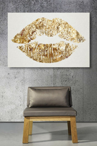 Gold Lips and Gray Chair