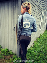 Denim Riding Shirt by Equestrianista.
