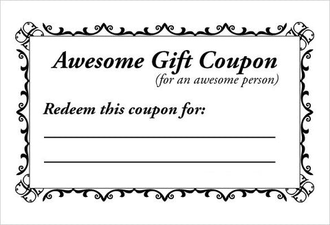 Equestrian Mother's Day Gift Coupon Template